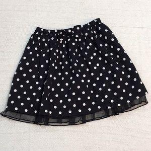 Baby GAP girl's black & white polka dot skirt